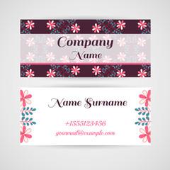 Business Card Doodle Flowers