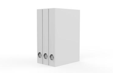 White binder on isolated white background, 3d illustration