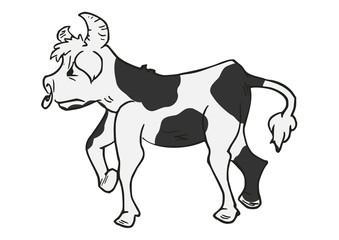 Stier of koe vector illustratie