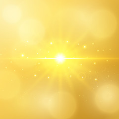 Abstract luxury gold background with bokeh defocused lights