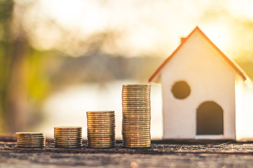 Investment in real estate finance, Concept money for the future.