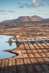 Il complesso delle Salinas de Janubio a Lanzarote, Isole Canarie