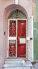 Traditional house at Balat District in Istanbul, Turkey.