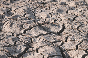 Dry soil caused by drought background.