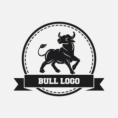 Black bull icon design template