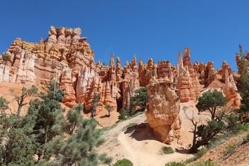 Rock Hoodoos in Bryce Canyon National Park in Utah. USA