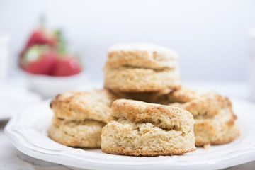 Close-up Scones on wooden table