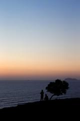 Miraflores Lima Peru. Sunset Ocean