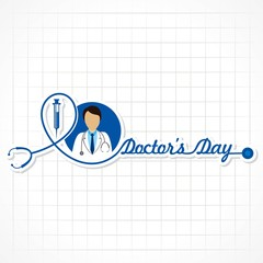 Vector illustration of National Doctors Day stock image and symbols