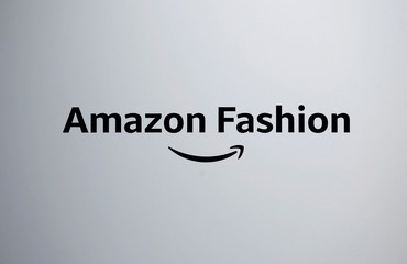 The logo of Amazon Fashion is seen at its new photo studio in Tokyo