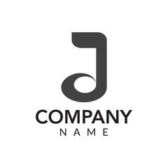 Music productions vector logo icon illustration