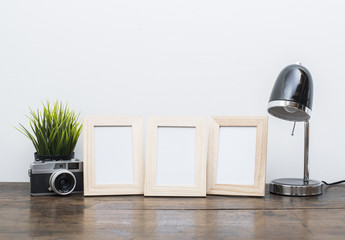 home interior picture frame mockup