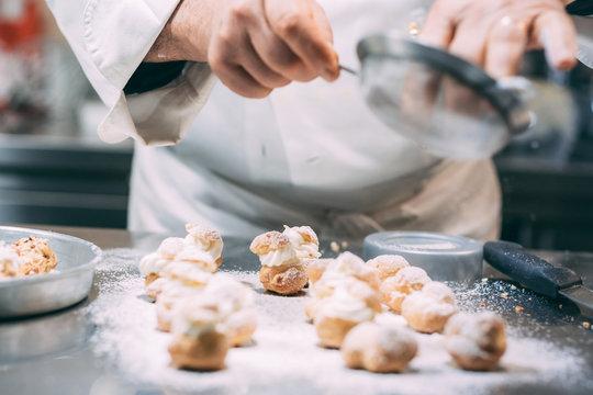 Making of delicious italian pastries from Puglia region