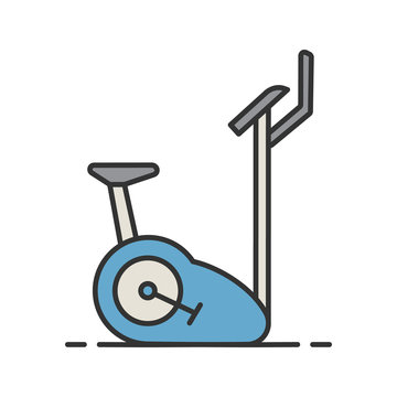 Exercise bike color icon