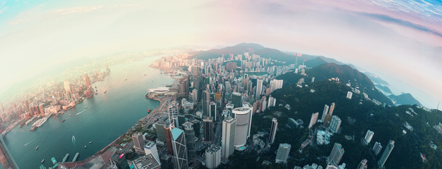 Fototapete - Panorama Hong Kong City