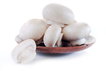 champignon isolated on white background.