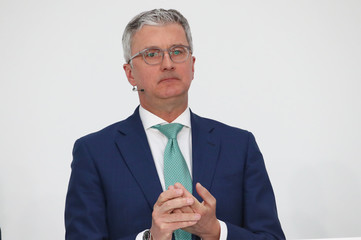Audi CEO Stadler attends company's annual news conference in Ingolstadt