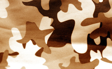 Military uniform pattern in brown tone.