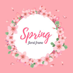 Tender Floral summer or spring frame template