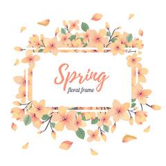Tender Floral summer or spring frame template