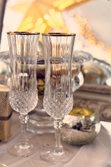 Pair of champagne glasses./Alcohol, Champagne, Chinese New Year, Christmas, Circle