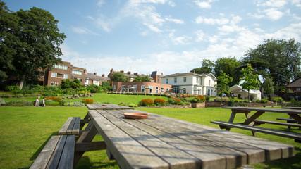 Pub garden in Chester