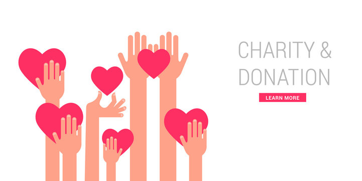 Charity, giving and donation poster template