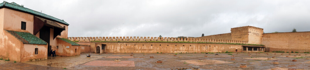 MEKNES, MOROCCO - CIRCA MARCH 2018 Old prison and city wall