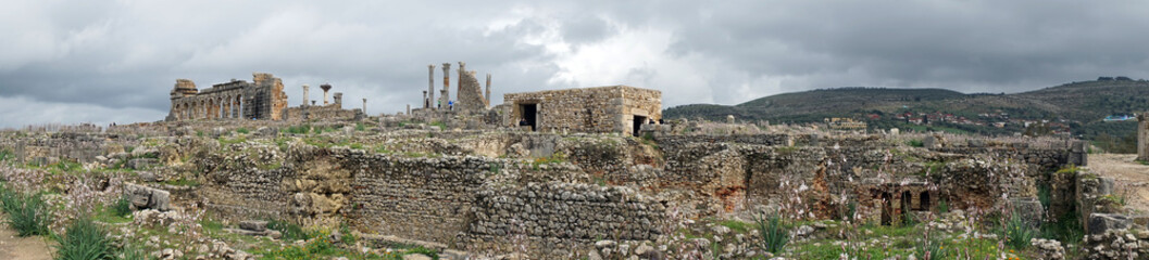 Deurstickers Rudnes Panorama of ruins