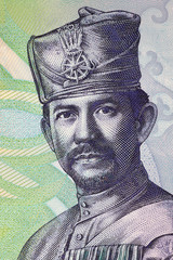 Hassanal Bolkiah portrait from Bruneian money