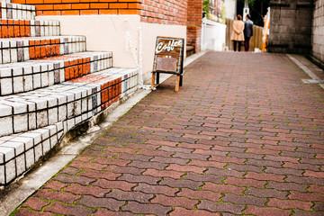 Cafe sign on street in Japan