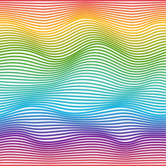 Wavy pattern. Abstract geometric colorful background. Vector illustration. Futuristic design. Optical illusion.