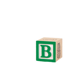 Toy Alphabet Block with Letter B