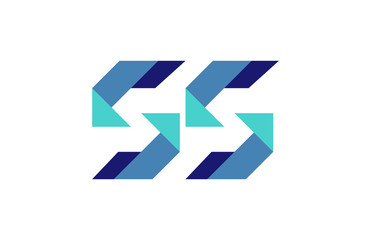 SS Ribbon Letter Logo