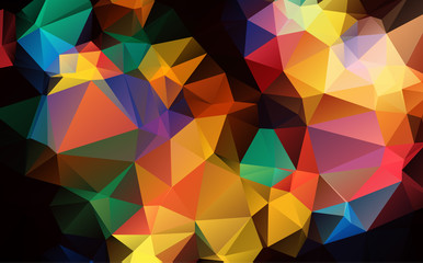 Vector multi color Polygon Abstract modern Polygonal Geometric Triangle Background.