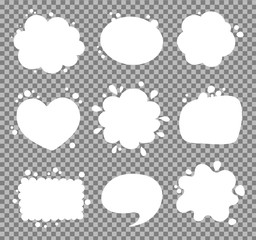 Blank empty speech bubbles. Vector illustration.