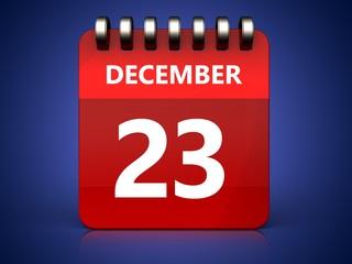 3d 23 december calendar