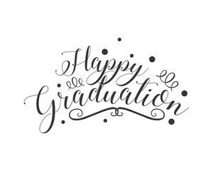 happy graduation typography typographic creative writing text image 3