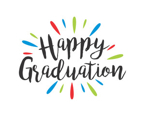 happy graduation typography typographic creative writing text image 1