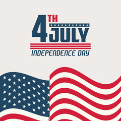 USA independence day card vector illustration graphic design