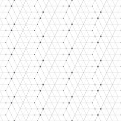Abstract geometric pattern dots in lines . Seamless background gray and white texture