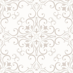 Seamless wallpapers in the style of baroque , illustration