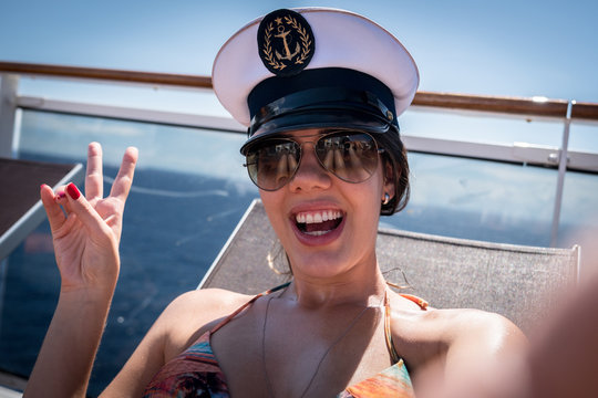 Girl Taking a selfie on Cruise Ship