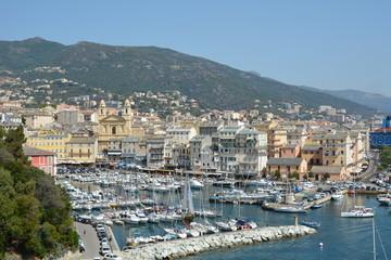 Corse, Bastia, le port.