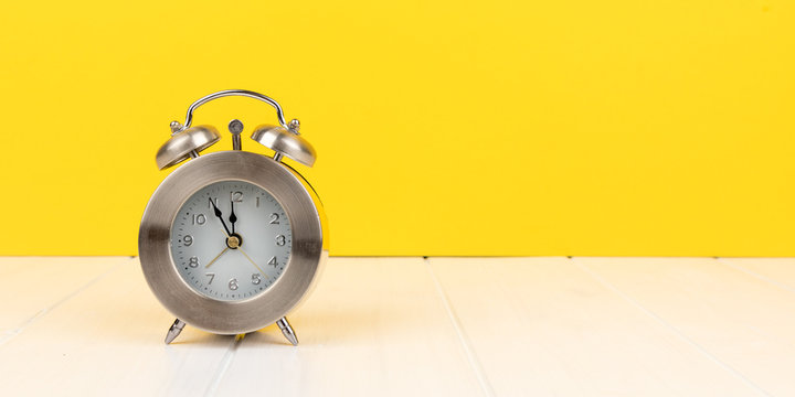 alarm clock panorama with copy space