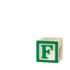 Toy Alphabet Block with Letter F
