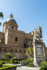 Palermo Cathedral in Palermo, Sicily, Italy