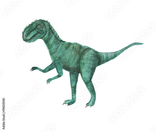 Watercolor painting dinosaur