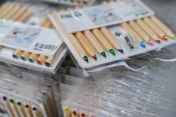 A lot of pencil color