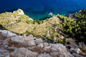 Serra de Tramuntana sea coast in Majorca, Spain, Europe, in a beautiful summer day